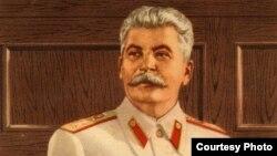 Potret al lui Stalin distribuit de propaganda sovietică în România în 1949 (din arhiva personală a lui Wiliam Totok)