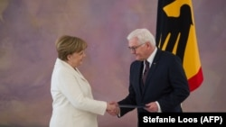 Presidenti gjerman, Frank-Walter Steinmeier në takimin e sotëm me kancelaren gjermane, Angela Merkel