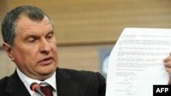 Русия вице-премьеры Игорь Сечин яңа имзаланган килешү белән