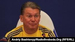 Главный тренер сборной Украины по футболу Олег Блохин