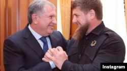 Рамзан Кадыров на встрече с Игорем Сечиным