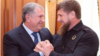 Rosneft boss Igor Sechin (left) and Chechen leader Ramzan Kadyrov pose during a meeting in April.