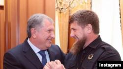 """Глава """"Роснефти"""" Игорь Сечин и Рамзан Кадыров"""