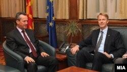 Средба на претседателот на Собранието на РМ Трајко Вељаноски со новоименуваниот ЕУ амбасадор Аиво Орав