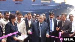 وزير النقل عامر عبد الجبار يفتتح رصيف رقم 4 في ميناء أم قصر