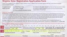 Так выглядит бланк заявки для участия в голосовании за кандидатов в президенты США, без регистрации в качестве избирателя американцы не имеют права участвовать в выборах.