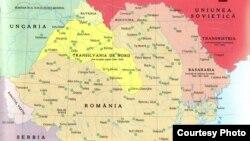 Harta teritorială a României 1940