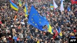 La manifestația de protest de duminică, de la Kiev