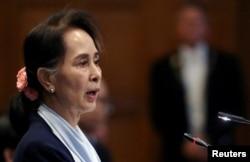 آنگ سان سوچی، رهبر ملکی میانمار