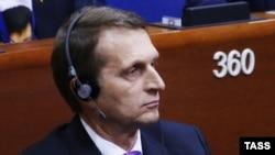 Sergei Naryshkin AŞPA-nın iclasında, 26 yanvar 2015
