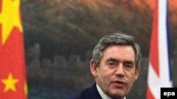 گوردون براون برای نخستین بار در مقام نخست وزیر بریتانیا به چین سفر کرده است.