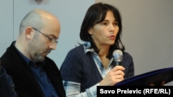 Biljana Dulović, sa predstavljanja izvještaja o procjeni intergriteta policije, foto: Savo Prelević