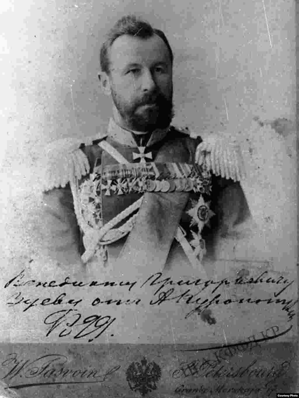 Түркестан крайынын генерал-губернатору А.Куропаткин. 1899-жыл.