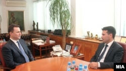 Архивска фотографија: Средба на премиерот Никола Груевски со лидерот на СДСМ Зоран Заев