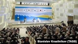 Türkmenistanda geçirilen biznes forumlaryň biri. Illýustrasiýa suraty