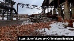 У Менску абрынулася сьцяна заводу «Інтэграл». Фота: Сьледчы камітэт