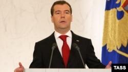 Dmitri Medvedev pronunță mesajul anual către națiune