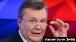 «Мене кинули, як лоха» – одна з цитат екс-президента Віктора Януковича на прес-конференції у Москві, Росія, 6 лютого 2019 року