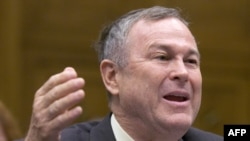 U.S. Representative Dana Rohrabacher (Republican, California, in file photo) expressed concern that U.S.-funded international broadcasters might be putting too great an emphasis on objective news reporting and not enough on the promotion of U.S. values an