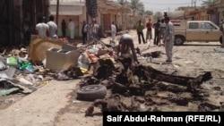 آثار إنفجار في مدينة الزبيدية بمحافظة واسط