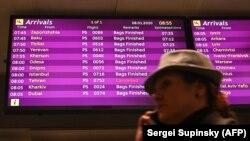 Расписание рейсов в аэропорту Киева, 8 января 2020 года.