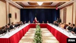 Хасан Роухани на встрече с редакторами американских СМИ. 24 сентября 2018 года, Нью-Йорк