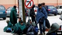 Мигранти во Србија.