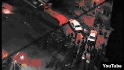 Скриншот с видео на YouTube о столкновениях 1 марта 2008 года в