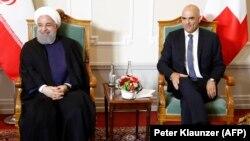 Իրանի նախագահ Հասան Ռոհանիին ընդունել է Շվեյցարիայի նախագահ Ալեն Բերսետը, Բեռն, 2-ը հուլիսի, 2018թ.