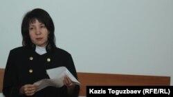 Бейнегүл Қайсина, судья. Алматы, 1 тамыз 2017 жыл
