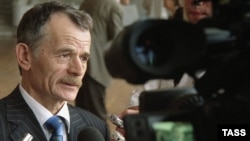 Mustafa Dzhemilev, the head of Ukraine's Crimean Tatars
