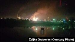 Pamje nga shpërthimi në Bosnje.