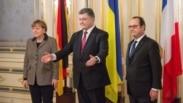 Merkel, Poroshenko & Hollande