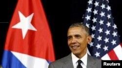 Presidenti i SHBA-së, Barack Obama, gjatë vizitës në Havana të Kubës. Mars, 2016.