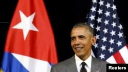 Президент США Барак Обама выступает с речью в Гаване, 22 марта 2016 года.