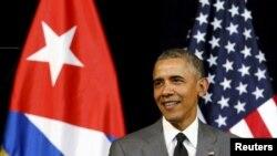 АҚШ президенті Барак Обама Гаванада сөйлеп тұр. 22 наурыз 2016 жыл.