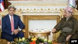 Госсекретарь США Джон Керри и глава Курдского автономного района Ирака Масуд Барзани