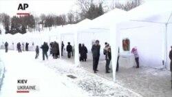 A Frozen Flower Show In Ukraine