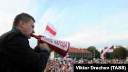 Protest al opoziției în Piața Lenin din Hrodna, 20 august