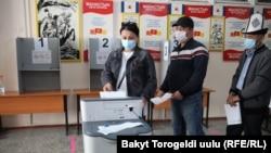 Парламентские выборы в Кыргызстане - Бишкек, 4 октября 2020 года.