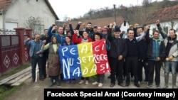 Sătenii din Nadăș, județul Arad, hotărâți să meargă până la capăt în justiție pentru a-și apăra pământurile