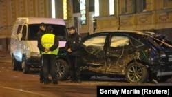 Наслідки ДТП в Харкові, внаслідок якого 6 людей загинули, 5 були травмовані, жовтень 2017 року
