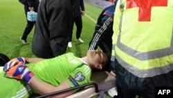 Igor Akinfejev, povrijeđeni golman reprezentacije Rusije