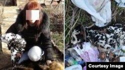 """Слева - девушка, у которой далматинец жил перед тем, как нашли его труп. Фото предоставлено волонтерской группой """"Лучший друг"""""""