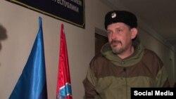 """Луганскідегі сепаратистер командирі Павел Дремов (""""Батя"""")."""