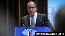 Serghei Lavrov vorbind la deschiderea noului an de studii în fața studenților Institutului de relații internaționale de la Moscova (MGIMO), 1 septembrie 2017
