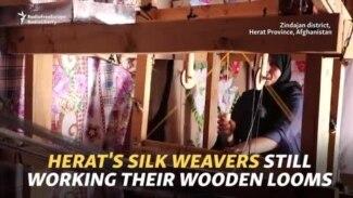 Herat's Silk Weavers Still Working Their Wooden Looms