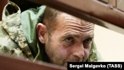 Apiske alınğan «Yañı Qapu» buksiriniñ Yuriy Budzılo mahkemede, 2018 senesi noyabrniñ 27-si