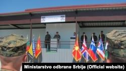 "Početak vojne vežbe ""Platinasti vuk"", foto: Ministarstvo odbrane Srbije"