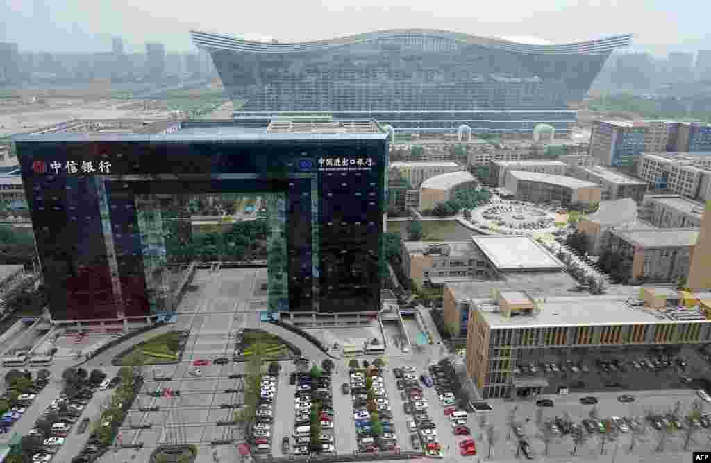 The New Century Global Center stands among other new buildings in a planned area of Chengdu called Tainfu New District. The development is part of plans to make Chengdu, a city of 14 million, an economic and cultural capital of its region.